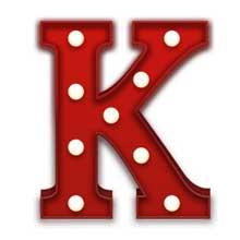 Rode Letter K Lamp