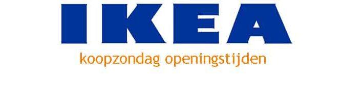 IKEA Koopzondag Openingstijden