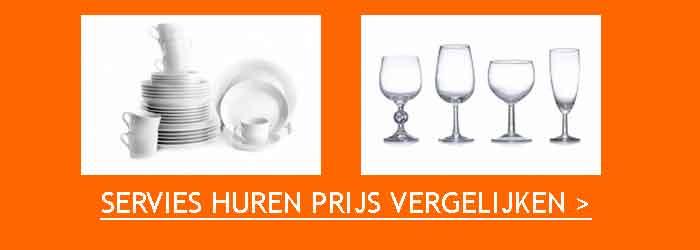 Servies Huren Prijs Vergelijken Borden Glazen